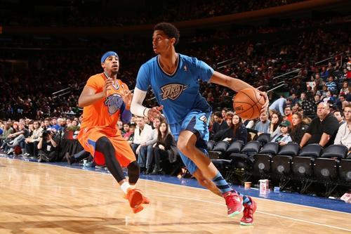 Los Knicks de Nueva York no pudieron en su casa y cedieron el triunfo frente a los Thunder de Oklahoma. (AFP)
