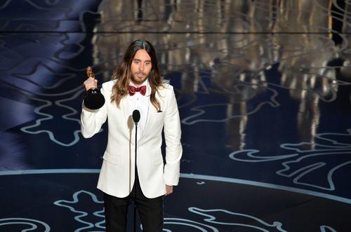 Jared Leto fue el ganador como Mejor actor de reparto. (Foto: AFP)