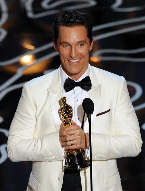 """Matthew McConaughey fue el ganador por su brillante papel en """"Dallas Buyers Club"""". (Foto: AFP)"""