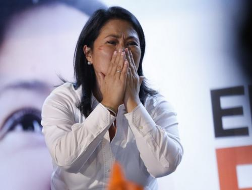 Keiko Fujimori agradeció los votos. (Foto: AFP)