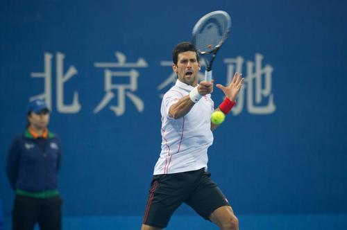 Novak Djokovic sigue imparable en el torneo de tenis de Pekín. (Ed Jones/AFP)