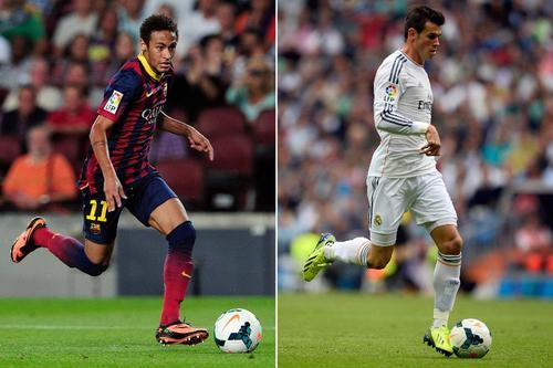 El galés y el brasileño se verán las caras de nuevo y querrán ser protagonistas del derbi español. (Imagen: AFP)