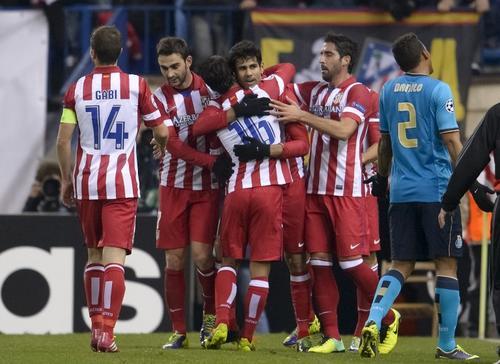 El Atlético de Madrid se coló entre los primeros 5 debido a su gran actuación en la fase de grupos de la actual Champions League. (Foto: AFP)