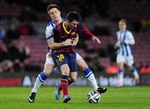 Messi tuvo otro juego en el que no anotó y tampoco pudo ser el que todos esperan. (Foto: Josep Lago/AFP)