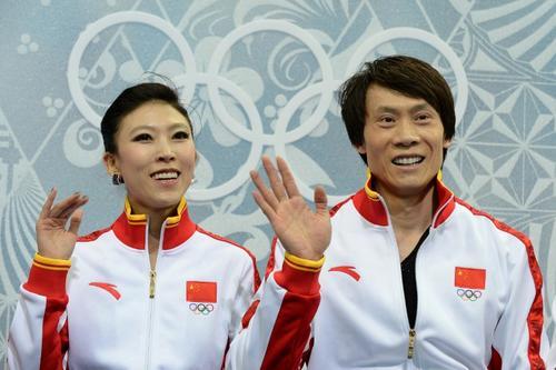 Ellos son Pang Qing y Tong Jian quienes son los representantes de China para el patinaje sobre hielo.  Ellos son comprometieron desde el 2010 en los Juegos de Vancouver e inmediatamente al finalizar la competición se casaron. Foto AFP