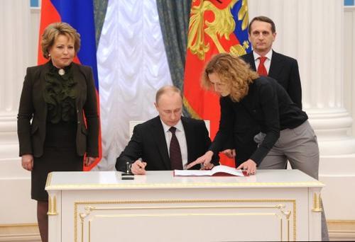 Presidente Ruso ratificó el acuerdo de anexión de Crimea a territorio Ruso. (Foto: AFP)