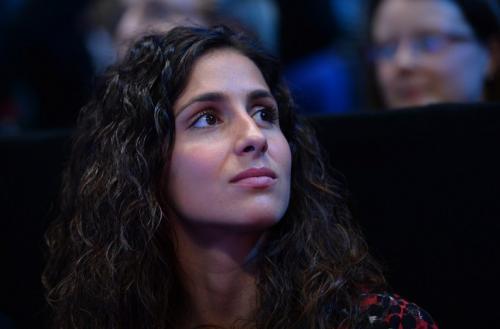 María Francisca Perello, novia de Nadal, lo acompañó en el primer partido del Masters de Londres. (Foto: AFP)