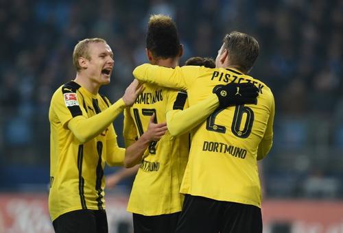 El Borussia Dortmund celebra un gol en la jornada anterior de la Bundesliga. (Foto: AFP)