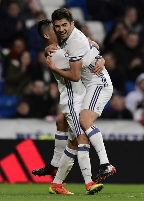 Enzo Zidane tardó 18 minutos en meter su primer gol para el Real Madrid. (Foto: AFP)