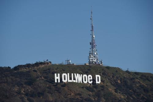 Así quedó el letrero de Hollywood. (Foto: AFP)