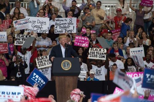 El mandatario organizó un mitin en Florida. (Foto: AFP)