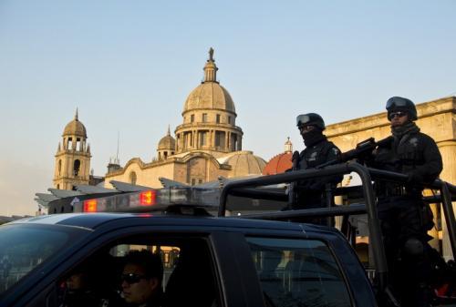 La seguridad el Estado de Toluca, México, se ha redoblado por la visita de Barack Obama. Foto: AFP