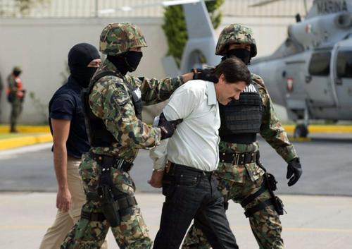 """Joaquín """"el Chapo"""" Guzmán Loera, al momento de su captura. Aún es una duda si será o no extraditado a Estados Unidos."""