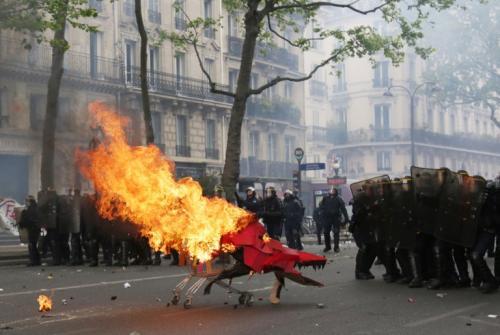 Protestas en la capital francesa. (Foto: AFP)