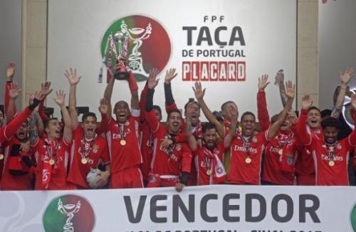El Benfica consiguió su título de Copa número 26 frente al Vitoria. (Foto: AFP)