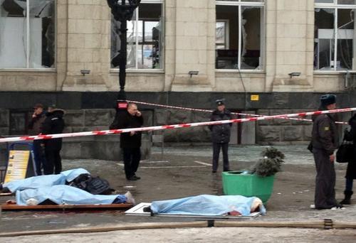 Estación de tren principal de la ciudad sureña de Volgogrado  donde un atacante suicida mató a 14 personas cuando se hizo estallar. (AFP)
