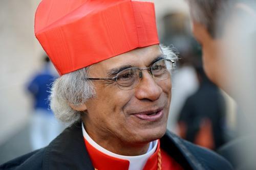 """Leopoldo José Brenes Solórzano, de 64 años, arzobispo de Managua, escenifica la imagen de pastor humilde y de la """"Iglesia pobre para los pobres"""". (Foto: AFP)"""