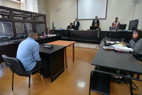 Gómez frente al Tribunal B de Sentencia de Mayor Riesgo. (Foto: Wilder López/Soy502)