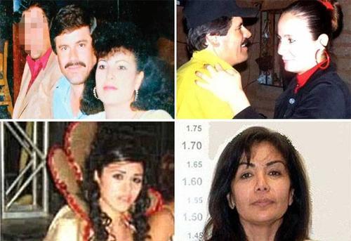 Alejandrina Maria Salazar Hernández, Estela Peña, Griselda López y Emma Coronel son las cuatro esposas de Joaquín Guzmán Loera.