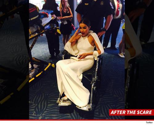 Olivia Culpo tuvo que ser asistida y trasladada en silla de ruedas. (Foto: TMZ)