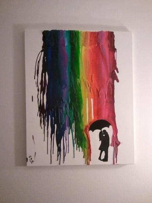Puedes apelar a tu lado creativo y colocar tu propia obra. (Foto: Pinterest)