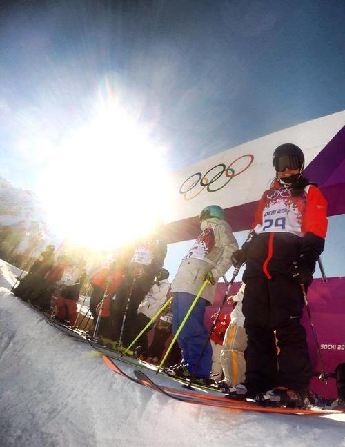 Marino durante sus entrenamientos en Sochi. Foto Julia Marino/Facebook
