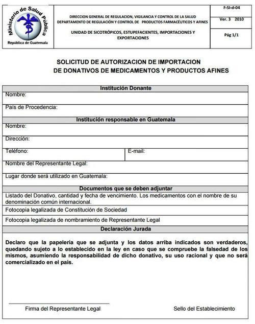 Solicitud original y sus requerimientos del ministerio de Salud. (Foto: Soy502)