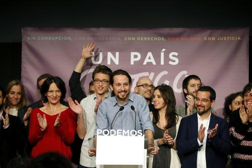 El partido de Pablo Iglesias es el que más tiene para celebrar en esta noche. (Foto: EFE)