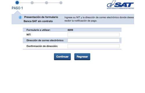 Esta es la opción que aparece en algunos bancos al buscar la opción de Banca SAT o SAT en Línea. Deberá seguir los pasos.