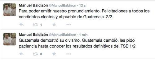 Baldizón guardó silencio, pero este fue el único pronunciamiento, donde deja en suspenso que sigue a la espera de los resultados.