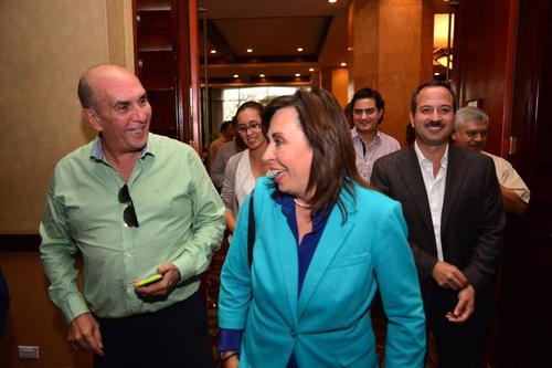 Sandra Torres ofreció una conferencia de prensa 24 horas después que los centros de votación cerraran el 6 de septiembre. (Foto: Jesús Alfonso/Soy502)