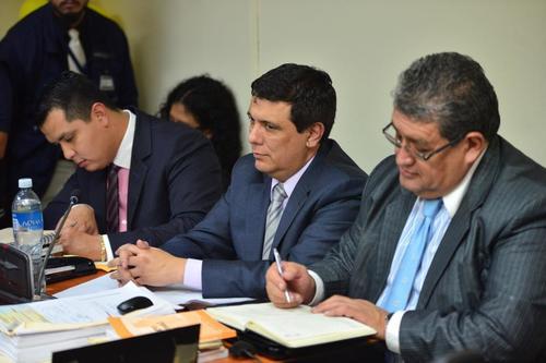 El magistrado Erick Santiago de León dijo ser inocente durante la audiencia de primera declaración. (Foto: Jesús Alfonso/Soy502)