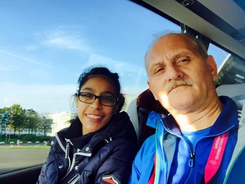 Por más de 40 días Ana Sofía Gómez y su entrenador Adrián Boboc perfeccionaron las rutinas en Inglaterra. Ahora la mirada está en Río 2016. (Foto: Facebook)