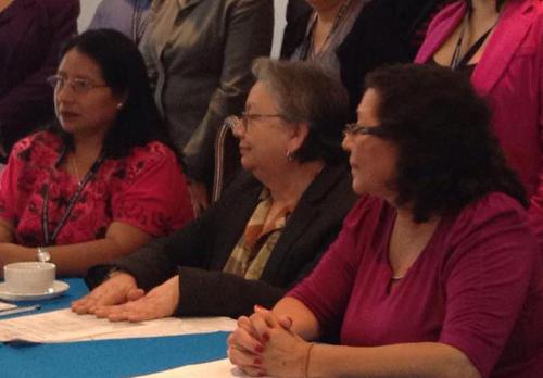 Las declaraciones de la Procuradora Adjunta de la PDH, Hilda Morales (c), fueron vertidas en el marco de una conferencia por el Día de la Niña.