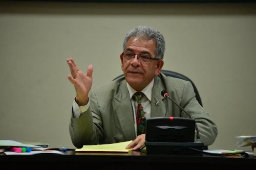 El juez Miguel Ángel Gálvez concedió a Barquín el poder irse a su casa. (Foto: Wilder López/Soy502)
