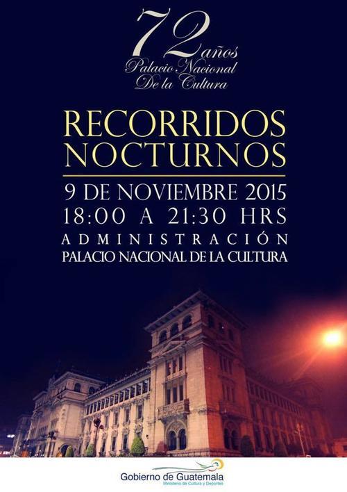 En el marco del 72 aniversario del Palacio Nacional se realizará el Recorrido Nocturno.