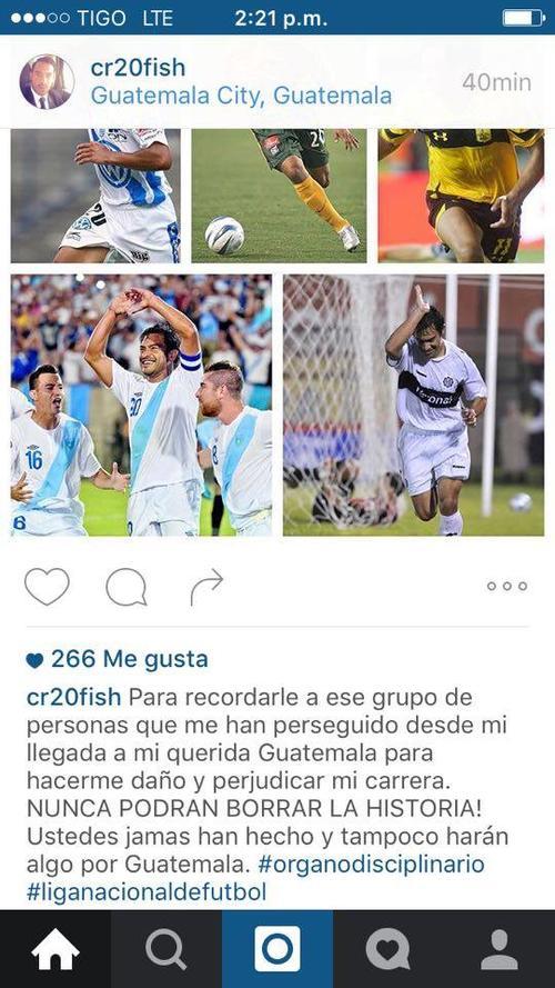 Este es el mensaje que dejó Carlos Ruiz en su cuenta de Instagram. (Foto: Instagram)