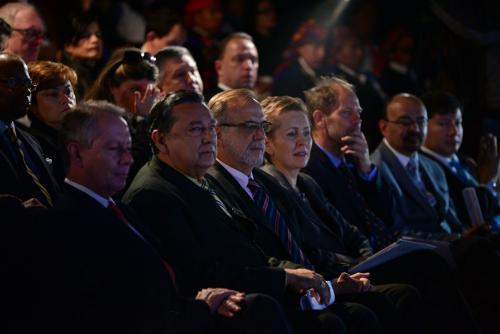 La inauguración oficial contó con personalidades clave para el desarrollo del país durante este año. (Foto: Wilder López/Soy502)