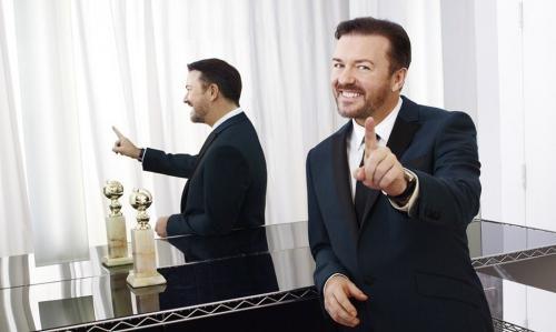 El humorista británico Ricky Gervais aceptó este lunes el reto de presentar de nuevo los Globos de Oro. ( Foto: CORTESÍA / END)