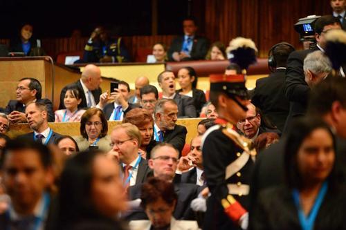 El discurso de Jimmy Morales tardó 35 minutos. (Foto Wilder López/Soy502)