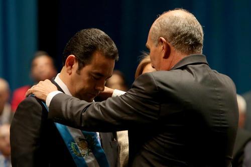 Jimmy Morales asumió como Presidente y dirigió un discurso a la nación. (Foto: EFE)