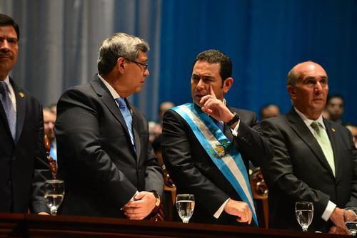 El gobernante evitó hablar de los temas adversos de su administración. (Foto: Archivo/Soy502)