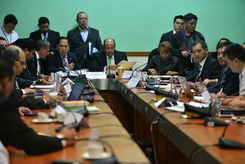 El Ministro de Gobernación fue citado por el bloque UNE para abordar la situación de las cárceles nacionales. (Foto Wilder López/Soy502)