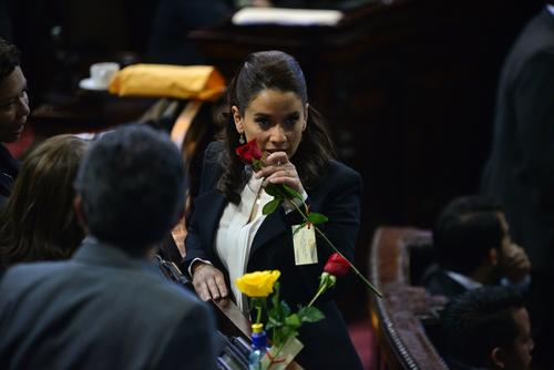 La nuera de Otto Pérez Molina, Stella Alonzo, y el exsecretario ejecutivo de la presidencia, German Velásquez, son los únicos integrantes de la bancada Patriota. (Archivo/Soy502)