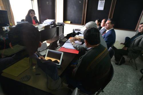 La audiencia de primera declaración del nuevo caso, se desarrolló en el Juzgado Séptimo de Primera Instancia Penal. (Foto: Wilder López/Soy502)