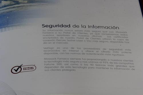 Fragmento del catálogo de productos de Mossack Fonseca. (Foto: Soy502)