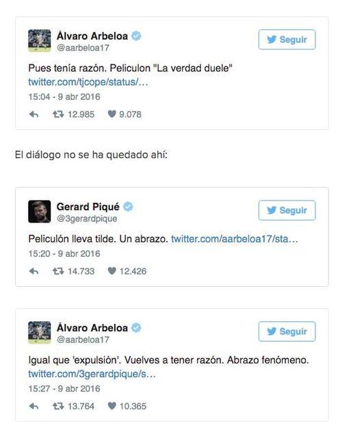 Acá el cruce de mensajes entre el defensor de Real Madrid y Barcelona.