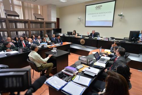 La audiencia de primera declaración fue aplazada debido a que uno de los sindicados no tenía abogado defensor. (Foto: Wilder López/Soy502)