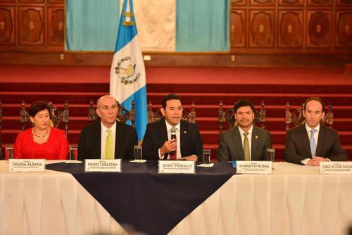 La Fiscal General Thelma Aldana y el presidente Jimmy Morales se pronunciaron en relación a la situación de la gobernadora de Alta Verapaz. (Foto: Jesús Alfonso/Soy502)