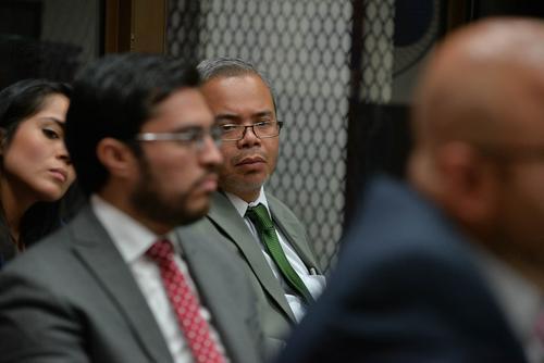 Roberto Stalling en una audiencia donde su cliente fue Obdulio Mendoza Matta. (Foto: Archivo/Soy502)